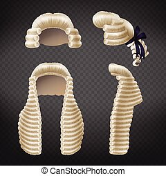 periwigs, συλλογή , ρεαλιστικός , μικροβιοφορέας , δικαστήs , 3d