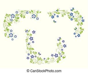 Periwinkle decorative borders