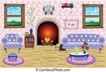 Periwinkle Dream Room - Every object on the EPS file is on a...