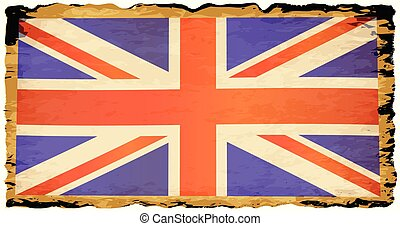 perkament, oud, dommekracht, vlag, unie