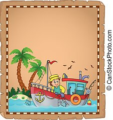 perkament, scheepje, visserij