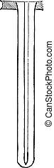 Perkins tube, vintage engraving.