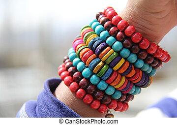 perlé, bracelet