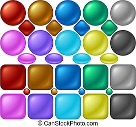 perla, botones