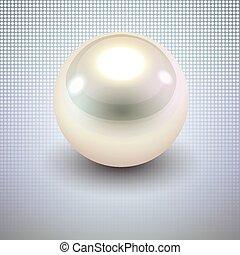perla, fondo blanco