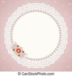 perla, servilleta, encaje