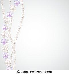 perla, vector, ilustración, fondo.