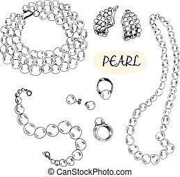 perla, vybírání