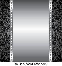 perla, y, plata, marco