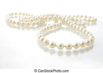perlas, cuerda