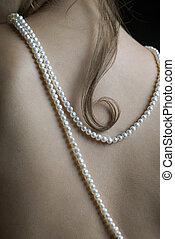 perlas, mujer