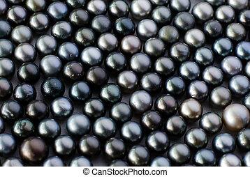 perlas, negro