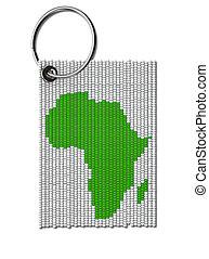 perle, afrikas, keyring, zulu
