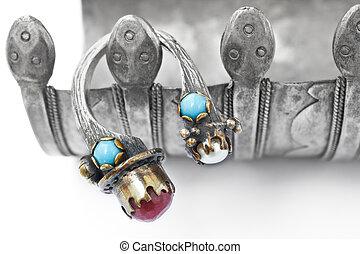 perle, anneau, rubis, ottoman, turc