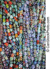 perle bicchiere, colorito, fondo