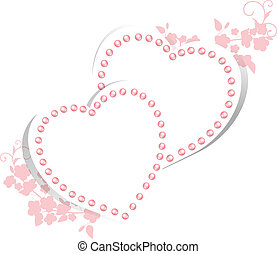 perle, cœurs