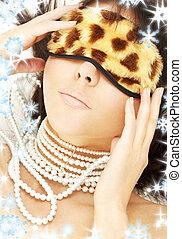 perle, leopardo, maschera