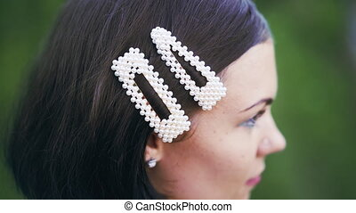 perle, modisch, hairgrip, frau, barrettes., hairpins., ...