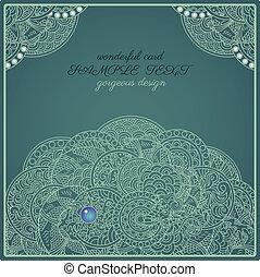 perle, oriental, authentique, carte, dragon
