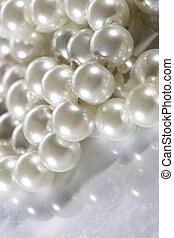 perle, surface blanche, réflecteur