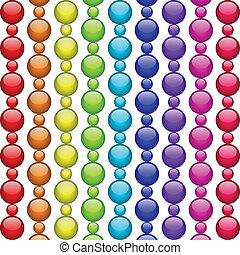 perles, coloré