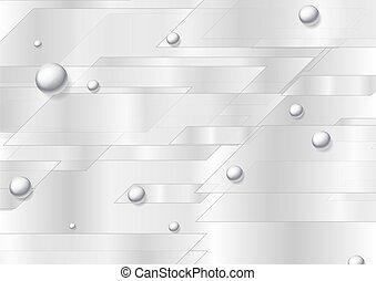 perles, gris, argent, résumé, technologie, perle, fond
