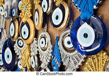 perles, oeil, mal, turc