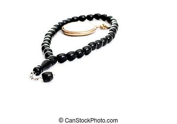 perles prière, et, vendange, poche, horloge, pour, prier