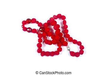 perles, rouges