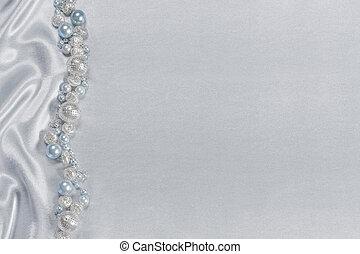 perles, satin, délicat, fond