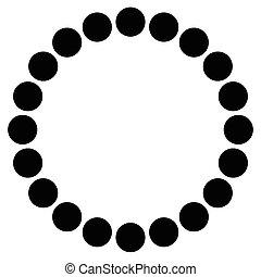perles, symbolique, résumé, bracelet, forme., illustration, circles., concentrique, minimal, perles