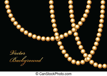 perles, vecteur, illustration, or