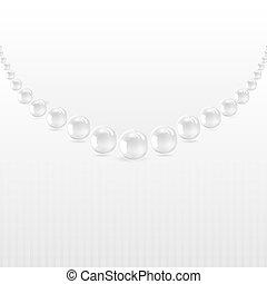 perls, en, un, fondo blanco