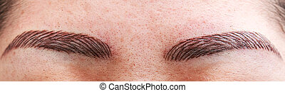 Permanent eyebrow tattoo - permanent make up on eyebrows