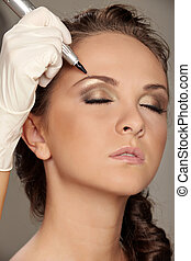 Permanent make-up - Professional permanent makeup applying