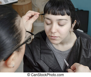 Permanent makeup. Permanent tattooing of eyebrows....