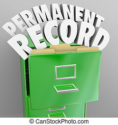 Permanent Record Filing Cabinet Personal Files - A file...