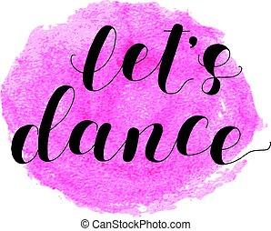 permettere, s, dance., iscrizione, illustration.