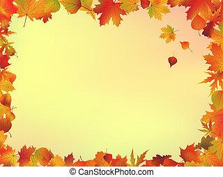 permisos de otoño, marco