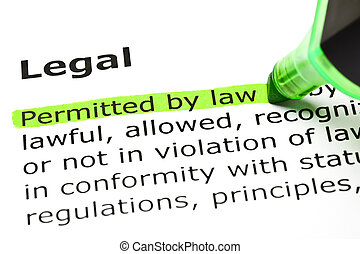 'Permitted by law', under 'Legal' - 'Permitted by law'...