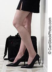 pernas, de, mulher