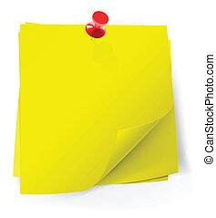 perno, colorito, note, attaccato, appiccicoso, rosso