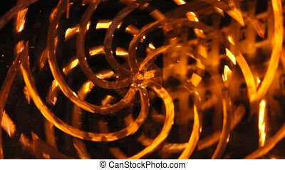 perpetual motion machine. Parts rotating in different...