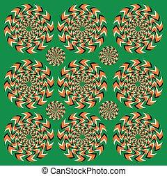 Perpetual rotation illusion