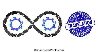 perpetuum, mozgatható, fordítás, kollázs, topog icon,...