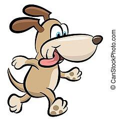 perro caminante, clipart