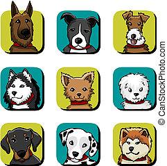 perro, iconos