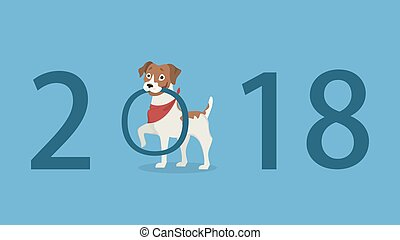 perro, illustration., 2018