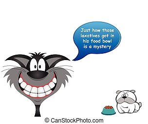 perro, laxatives, alimento, tazón