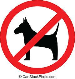 perro, no, señal